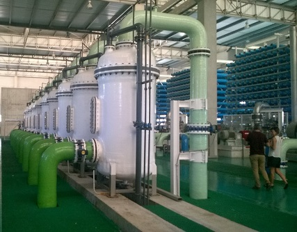 Visiting desalination plant in Alicante, Spain