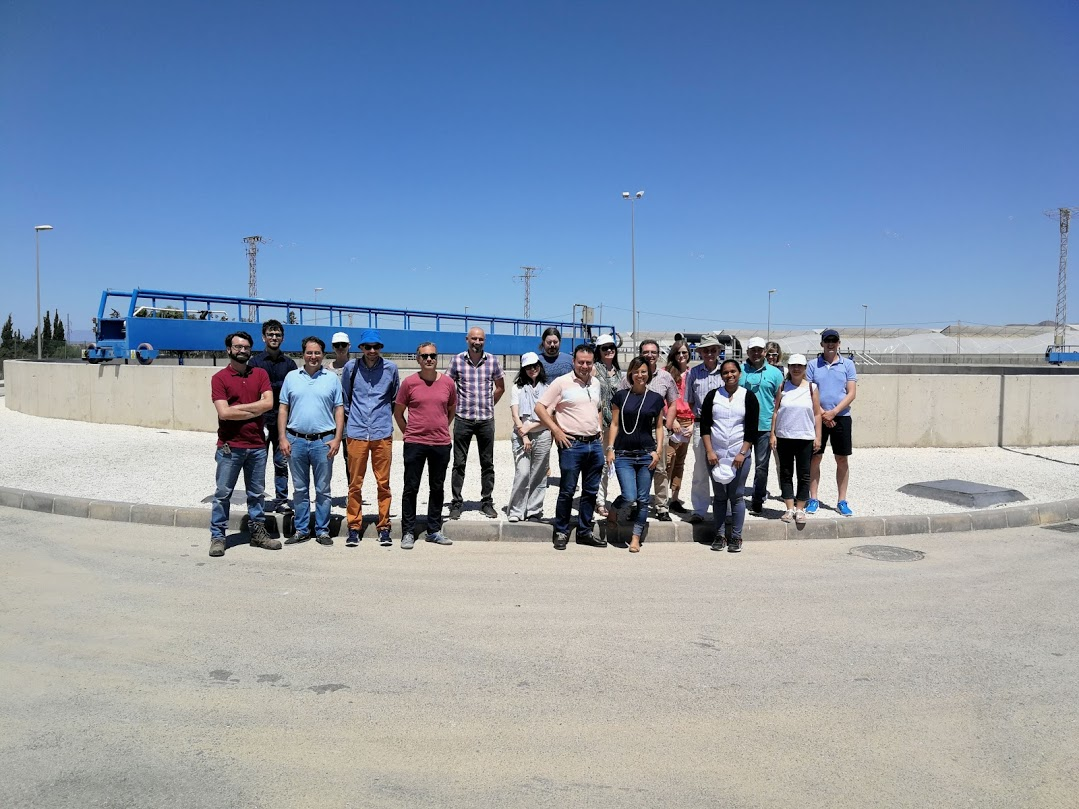 Site visit at the wastewater treatment plants of the Region of Murcia in Spain
