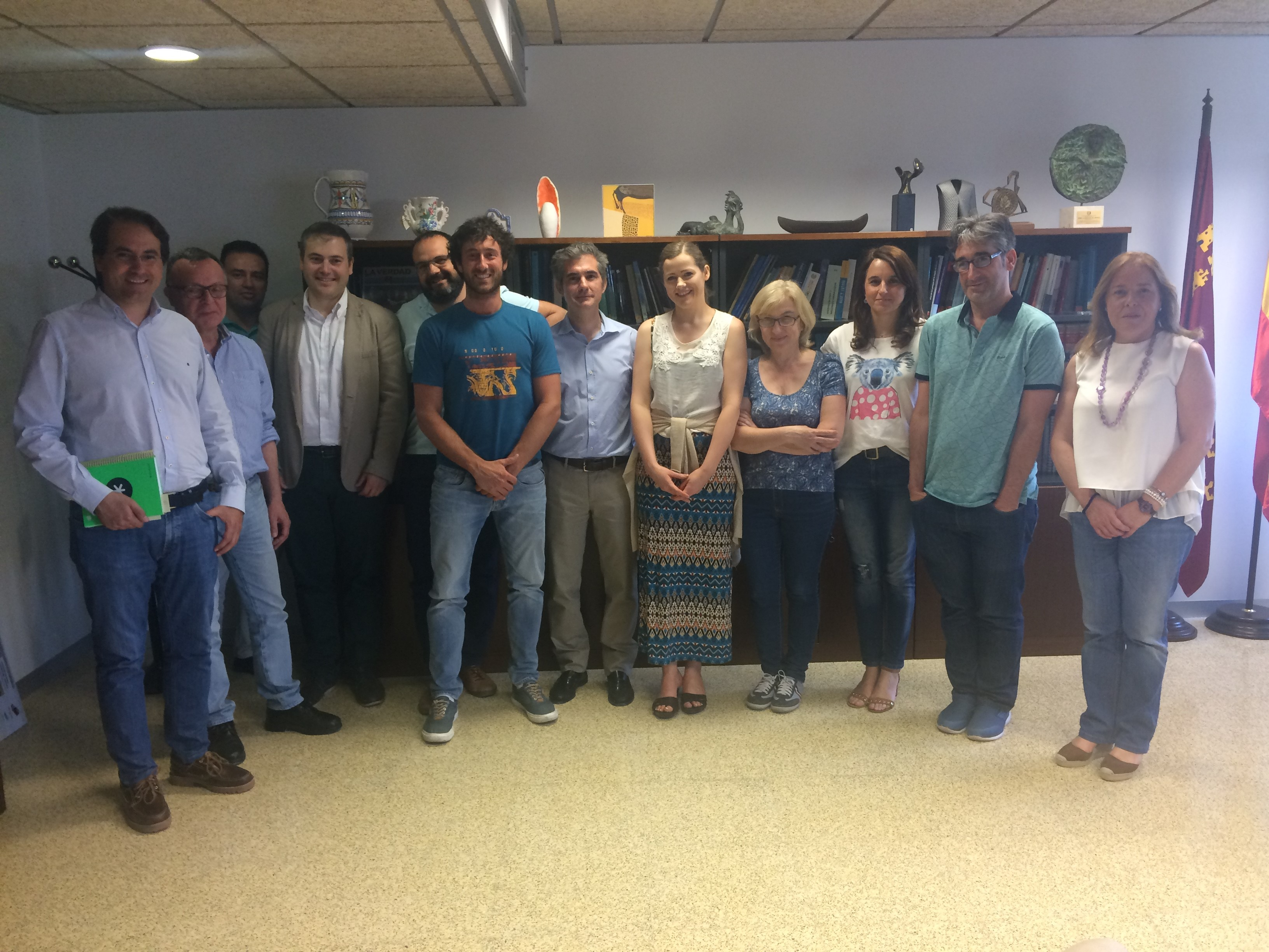 University of Macerata and Ulster University researchers seconded in Murcia, Spain (May 2018)